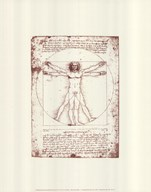 The Vitruvian Man (serigraph and embossed)
