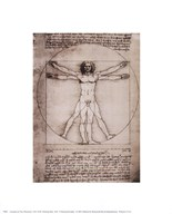 Leonardo Da Vinci - Vitruvian Man, 1492 Size 5x7
