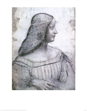 Framed Portrait of Isabella d'Este Print