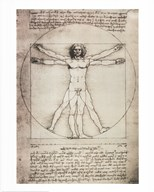 Vitruvian Man, 1492 Art
