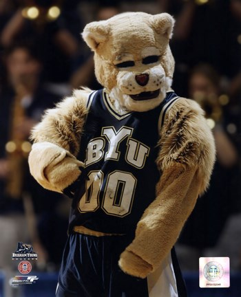 Brigham Young University Mascot 2001 Fine Art Print By
