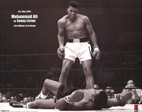 Framed Muhammad Ali - 1965 1st Round Knockout VS Sonny Liston Print
