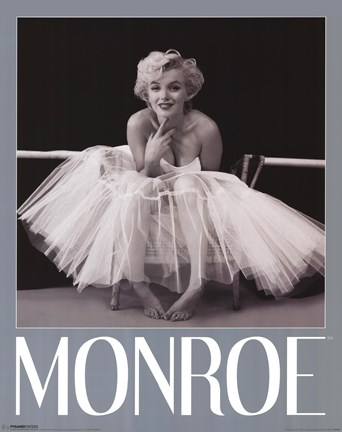framed marilyn monroe ballerina print