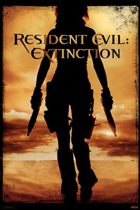 Framed Resident Evil:Extinction (shadow) Print