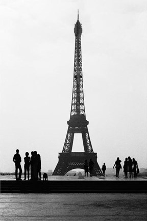 Framed Eiffel Tower BW Signed Print