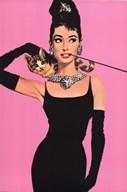Audrey Hepburn - Pink  Wall Poster