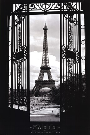 Framed Eiffel Tower 1909 Print