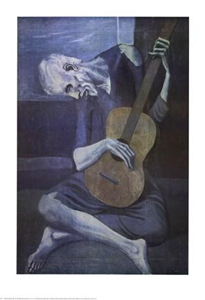 Le Vieux Guitariste Fine Art Print By Pablo Picasso At