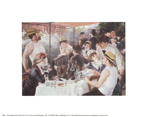 Framed Luncheon of the Boating Party, c.1881 Print
