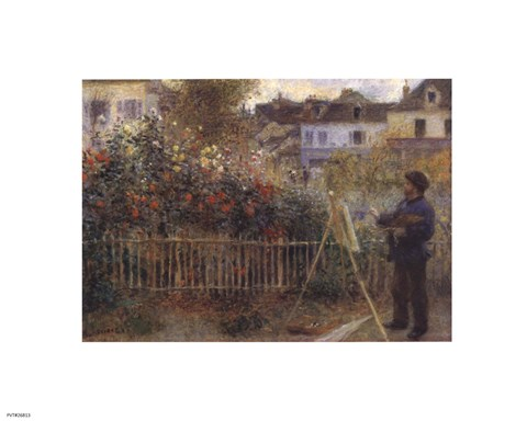Framed Monet Painting in the Garden at Argenteuil, 1873 Print