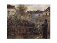 Monet Painting in the Garden at Argenteuil, 1873 Art