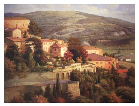 Framed Italian Overlook Print