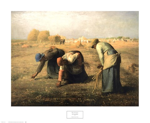 Framed Gleaners 1857 Print