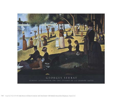 Framed Sunday Afternoon on the Island of La Grande Jatte, c.1886 Print