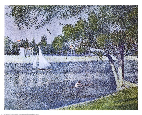 Framed Seine At the Grande-Jatte Print