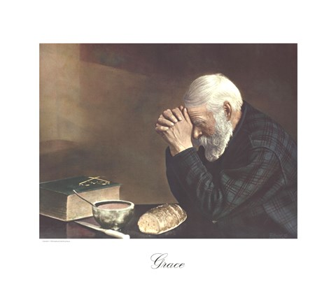 Grace Old Man Praying Fine Art Print By Eric Enstrom At