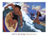 Lilo's Surfing Adventure  Fine Art Print
