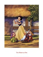 Snow White - Two Hearts as One  Fine Art Print