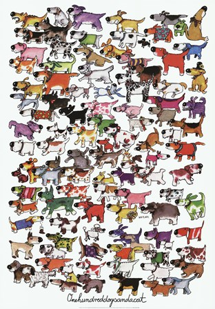 One Hundred Dogs and a Cat by Kevin Whitlark art print