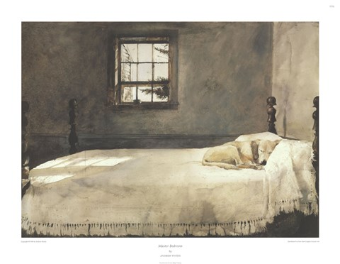 Master Bedroom Fine Art Print By Andrew Wyeth At