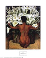 Nude with Calla Lilies Art