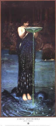 Circe Invidiosa C 1892 Fine Art Print By John William