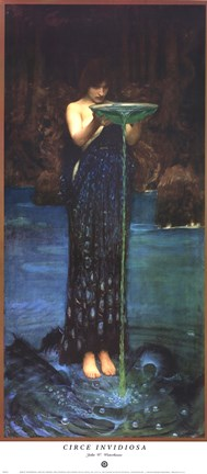 Framed Circe Invidiosa, c.1892 Print