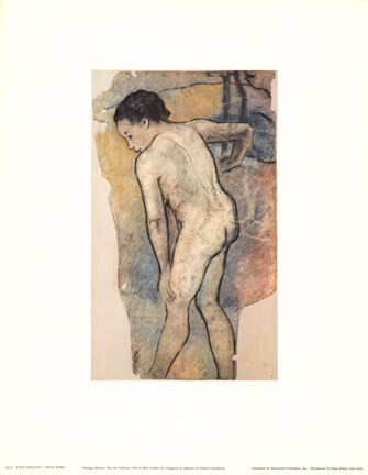 Framed Breton Bather Print