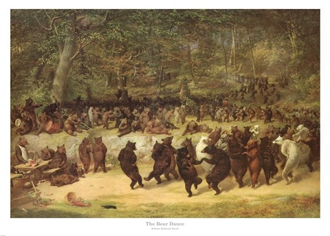 The Bear Dance C 1870 Fine Art Print By William Holbrook