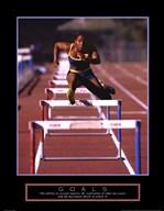 Goals - Runner Jumping Hurdles  Fine Art Print