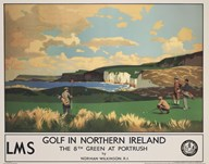 Vintage Golf - Golf In Northern Ireland  Fine Art Print