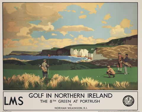 Framed Vintage Golf - Golf In Northern Ireland Print