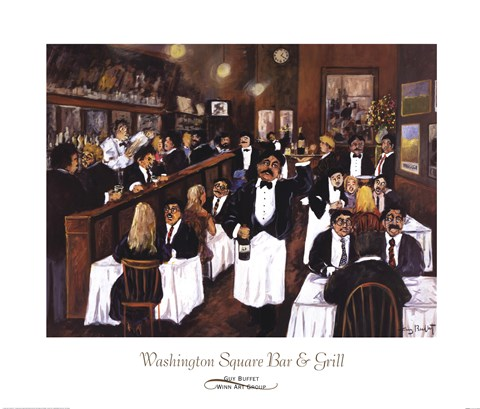 Framed Washington Square Bar & Grill Print