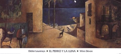 El Perro Y La Luna Fine Art Print By Didier Lourenco At
