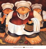 Three Chefs  Fine Art Print