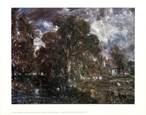 Framed John Constable - On the River Stour Print