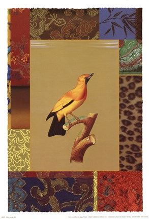 Framed Yellow Jungle Bird Print