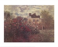 The Artist's Garden in Argenteuil (A Corner of the Garden with Dahlias), c.1873 Art
