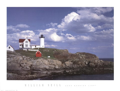 Framed Cape Neddick Light Print