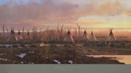 Blackfeet Camp  Fine Art Print