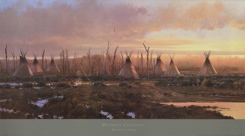 Framed Blackfeet Camp Print