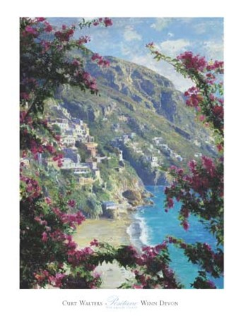 Positano, The Amalfi Coast by Curt Walters art print
