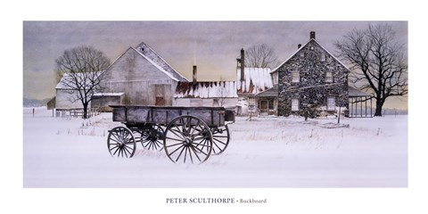 Buckboard Fine Art Print By Peter Sculthorpe At