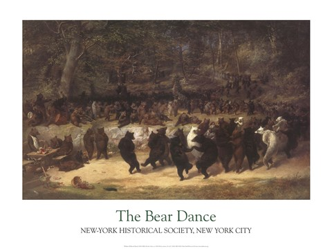Framed Bear Dance Print