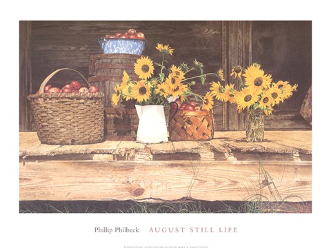 Framed August Still Life Print