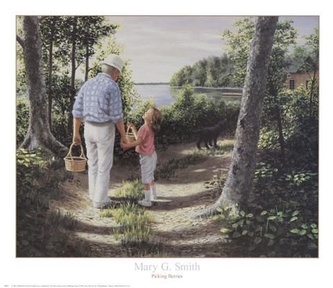 Framed Picking Berries Print