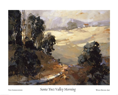 Framed Santa Ynez Valley Morning Print
