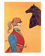 Girl in Riding Habit  Fine Art Print