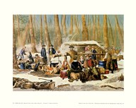 Currier and Ives - American Forest Scenes Size 24x16