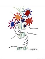 Bouquet with Hands Art